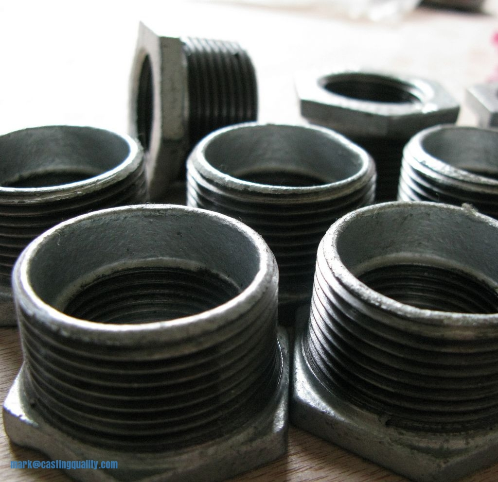 Malleable iron fittings bushing sand casting
